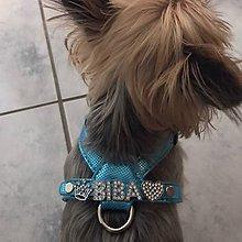Pre zvieratká - Luxusný postroj s vlastným menom pre Vaše zvieratko - 10463257_