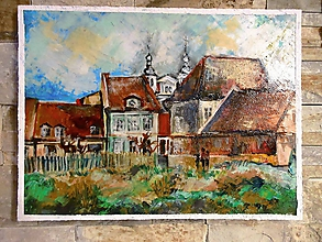 Obrazy - Pohľad na otvorený priestor Štefánikovej ul. v pozadí Univ.kostol. - 10462236_