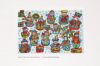 Papiernictvo - SNEHULIACI - klasická pohľadnica - 10460690_