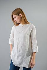 - Ľanová tunika Silvi (S/M, M/L, L/XL - Modrá) - 10461360_