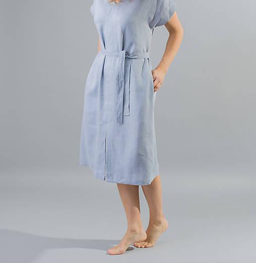 Dámske ľanové šaty Mia, modré