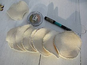 Úžitkový textil - Obličovacie tampóny béžové s BIObavlny - 10460702_