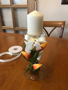 Svietidlá a sviečky - Svietnik s tulipánmi - 10462669_