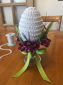 Dekorácie - Veľkonočné vajíčko s krokusmi - 10462829_