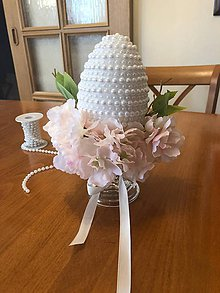 Dekorácie - Veľkonočné vajíčko perlové - 10462857_