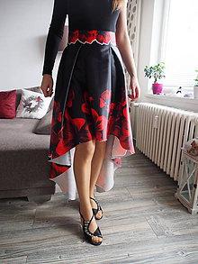 Sukne - Asymetrická sukňa - 10463349_