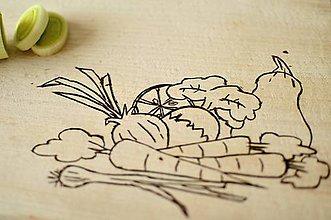 Pomôcky - doska na krájanie - zeleninová - 10462119_