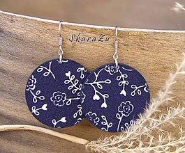 Náušnice - Floral indigo - 10462859_