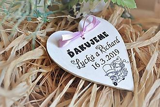 Darčeky pre svadobčanov - Svadobné magnetky - 10462916_