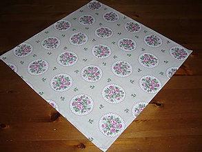 Úžitkový textil - Obrus romantický 40x40 - 10463390_