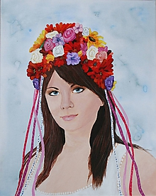 Obrazy - Žena s partou 40x50 cm - 10463043_