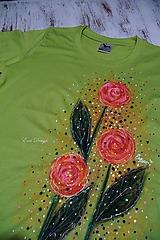 Tričká - Ruže - maľované tričko - 10467568_