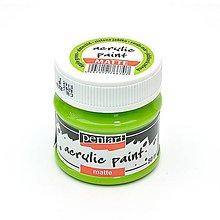 Farby-laky - Akrylová farba, matná, 50 ml, Pentart (jablková zelená) - 10464364_