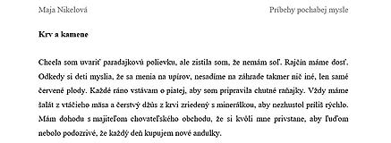 Nezaradené - Krv a kamene (poviedka) - 10464327_
