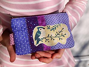 Taštičky - peňaženka vtáčik - 10465435_