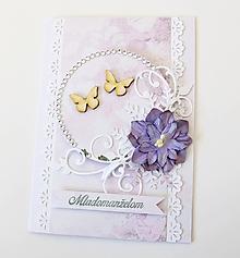 Papiernictvo - pohľadnica svadobná - 10464407_