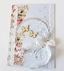 Papiernictvo - pohľadnica svadobná - 10465030_