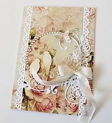 Papiernictvo - pohľadnica svadobná - 10465032_