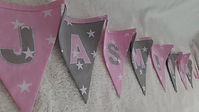 Detské doplnky - Girlanda vlajky ... JASMÍNKA - 10465814_