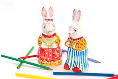 Dekorácie - Keramický veľkonočný zajačik - 10464726_