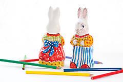 Dekorácie - Keramický veľkonočný zajačik - 10464727_