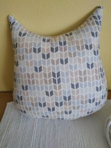 Úžitkový textil - sova vankúš sivý (Tyrkysová) - 10464440_