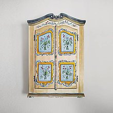 Dekorácie - Miniatúrna starožitná skrinka - na želanie  (Béžová) - 10464679_