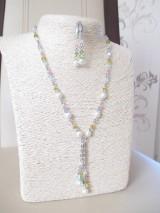 Sady šperkov - Swarovski - sada šperkov v jarných farbách - chirurgická oceľ - 10465457_