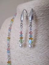 Sady šperkov - Swarovski - sada šperkov v jarných farbách - chirurgická oceľ - 10465458_