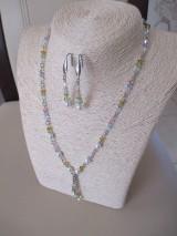 Swarovski - sada šperkov v jarných farbách - chirurgická oceľ