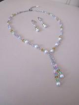Sady šperkov - Swarovski - sada šperkov v jarných farbách - chirurgická oceľ - 10465486_
