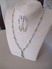 Sady šperkov - Swarovski - sada šperkov v jarných farbách - chirurgická oceľ - 10465469_