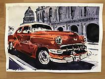 Obrazy - Červeny Chevrolet - 10465632_