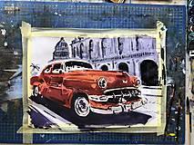 Obrazy - Červeny Chevrolet - 10465634_