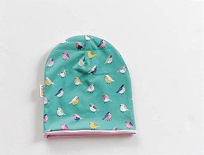 """Detské čiapky - Dvojvrstvová čiapka """"vtáči spev"""" - 10467803_"""