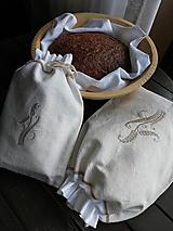 Úžitkový textil - DARČEKOVÁ SADA z  ručne tkaného  plátna - 10466073_