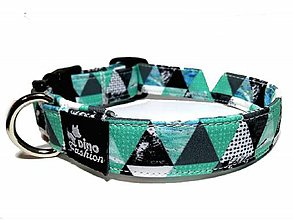 Pre zvieratká - Obojok softshell Green Triangle - 10464550_