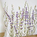 Úžitkový textil - Vankúš levanduľový - ručne maľovaný - 10464930_