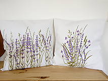 Úžitkový textil - Vankúš levanduľový - ručne maľovaný - 10464933_