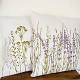 Úžitkový textil - Vankúš levanduľový - ručne maľovaný - 10464935_