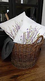 Úžitkový textil - Vankúš levanduľový - ručne maľovaný - 10464940_