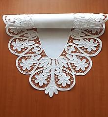 Úžitkový textil - Richelieu- Slávnostná, biela, 107,5 x 62 cm - 10464512_