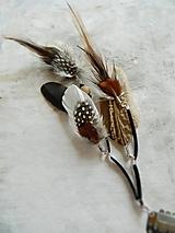 - hair clip, clip do vlasov prírodný - 10465599_