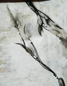 Ozdoby do vlasov - čierno-biely hairclip - 10465637_