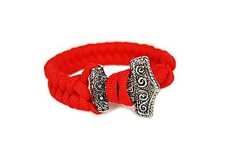 """Náramky - Paracord náramok """"Mjölnir 2"""" červený (Modrá) - 10465089_"""