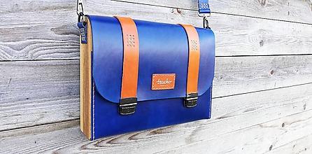 Veľké tašky - Pánska taška - Messenger Bracho Bruno Navy Beta - 10467642_