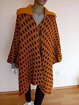 Kabáty - Pletené pončo - 10467044_