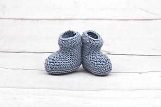 Topánočky - Modré papučky zimné EXTRA FINE - 10465845_