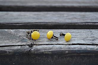 Sady šperkov - Jadeit sada klipsne a prsteň - 10466165_
