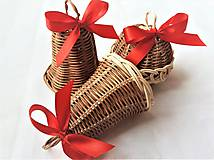 Dekorácie - Vianočná sada s červenou mašľou - 10465491_